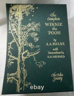 Folio Society The Complete Winnie The Pooh 3 Vol Set Ilustrated Slip Case