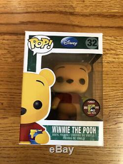 Funko Pop Disney Sdcc 2012 En Exclusivité Winnie L'ourson Le 480 Floqués Rare