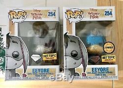 Funko Pop Disney Set 2 Winnie L'ourson Bourriquet Diamant Chase & Régulier Hot Topic