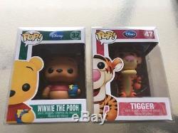 Funko Pop Disney Winnie L'ourson & Tigrou # 32 & # 47 (vaulted) Avec Protector