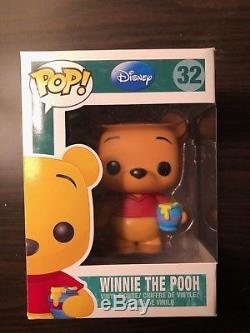 Funko Pop Disney Winnie Le Pooh # 32 Retraité Voûte Rare Avec Pop Protector