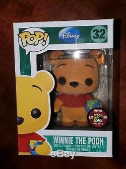 Funko Pop! Sdcc 2012 Floqué Winnie L'ourson Le 480 Pcs Dans Le Protecteur De Pile Dure