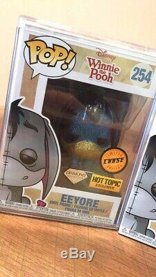 Funko Pop! Winnie The Pooh Eeyore # 254 Diamond Chase Exclusif + Protecteur