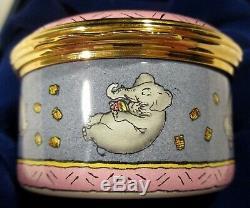 Halcyon Days Angleterre Winnie L'ourson Comptage Heffalumps Émail Boîte Babiole