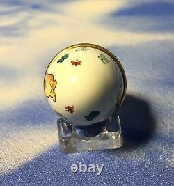 Halcyon Days Enamels Winnie L'ourson Avec Papillons Egg Trinket Box Avec Box Euc