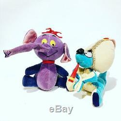 Heffalump & Woozle Vtg Disney Peluche Animal En Peluche Winnie L'ourson Lot Dakin Set