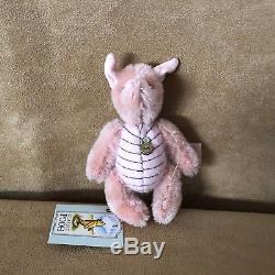 Hermann Piglet Eeyore Teddy Disney Winnie L'ourson Lot 4 Ours Christopher Robin