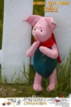 Hot Toys 1/6 Mms503 Ensemble Winnie L'ourson Et Pigle Christopher Robin À Collectionner