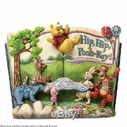 Jim Shore Disney Winnie L'ourson Hip Hip Storybook Pooh-ray 4046053 Nouvelle Boîte Rare