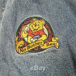 Le Magasin Disney Winnie L'ourson Denim Varsity Manteau De Veste Taille XL Brodé