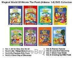 Le Monde Magique De Winnie The Pooh Vol 1 2 3 4 5 6 7 8 Compléter New DVD 2 Region