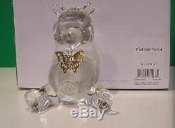 Lenox Disney Crystal Flutterby Ami Sculpture Nouveau Dans Box Coa Winnie L'ourson