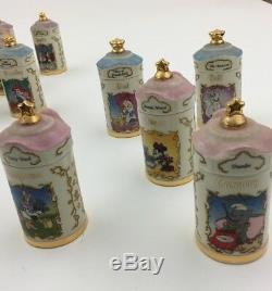 Lenox Disney Spice Set 24 Pots De Bois Pots À Épices En Bois Neige Bambi Winnie L'ourson