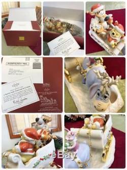 Lenox Winnie L'ourson Statue Figurine Figure Disney 5000 Limited Rare Noël