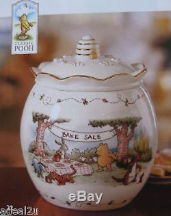 Lenox Winnie Le Pooh Miel Pot Cookie Pot Newinbox Coa Pique-nique Aveceeyore & Tigrou