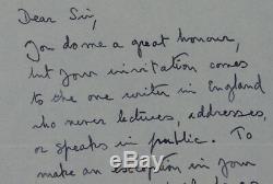 Lettre D'autographe Signée Par A. A. Milne Auteur Des Livres De Winnie L'ourson