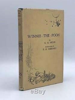 Livre Collectible! Winnie L'ourson Première Édition 1926 Signée Par A. A. Milne