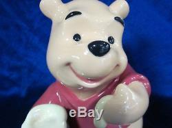 Lladro Winnie The Pooh Tout Neuf Dans Boîte # 9115 Disney Pot Hunny Mignon Économisez $ F / Sh