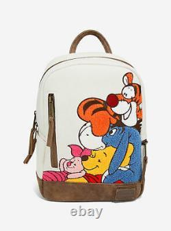 Lounfly Disney Winnie Le Pooh Chenille Mini Sac À Dos Et Kit De Portefeuille Amis