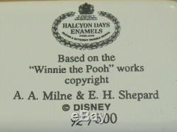 Ltd Ed Halcyon Days Winnie L'ourson Bons Amis Stick À Vous. Boîte Émail