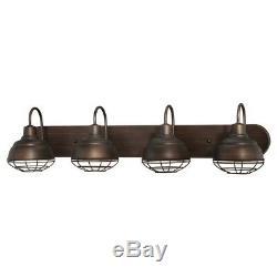 Luminaire De Coiffeuse Néo-industriel Millennium Lighting, Bronze Frotté 5424-rbz