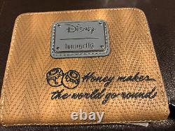 Lunofly Disney Winnie Le Pooh Herringbone Mini Sac À Dos & Portefeuille Zip