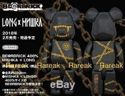 Medicom Be @ Rbrick 2018 Mishka X Longue De 400% Des Chaînes D'or Bear Club Bearbrick