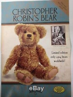 Merrythought Teddy Bear Edward Christopher Robin Winnie L'ourson L. E Growler