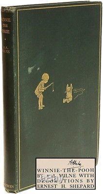 Milne Winnie The Pooh 1926 Tissu Original Première Édition Signée