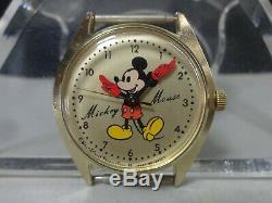 Montre Mécanique Seiko Des Années 1970 Pour Mickey Mouse 5000-6030 Pour Garçon