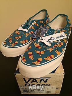 New Vans Disney Og Authentique LX Winnie The Pooh Taille 11 Originals Nib Ds Cab