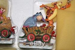 Nouveau Danbury Mint Tigger Ornements De Train De Vacances Figurines / Winnie L'ourson