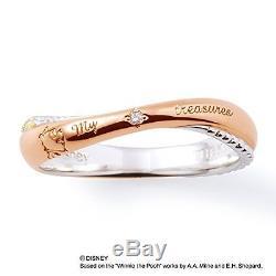 Nouveau The Kiss Disney Bague En Argent Avec Diamants Et Zircones Winnie L'ourson Pour Femme F / S