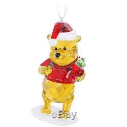 Ornement De Noël Couleur Cristal Swarovski Disney Winnie The Pooh # 5030561 Nouveau