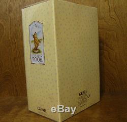 Peluche Classic Pooh Gund # 7940 Clasic Pooh, 11 Mohair Entièrement Articulé, Menthe / Carton