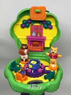 Polly Pocket Winnie L'ourson 100 Acre Bois Ensemble De Jeu Tous Les 10 Chiffres Complets