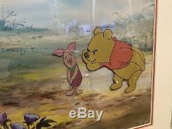 Production Originale Cel Peinture Utilisé Dans Walt Disney Winnie L'ourson Porcinet