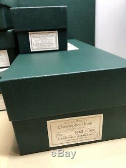 R. John Wright Complete Pocket Pooh Set & Toile De Fond De Lithographie Nib! Le # 1065/3500