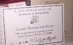 R John Wright Doll -classic Winnie-the-pooh, 1998, Edition Limitée 689/2500