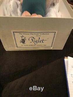 R. John Wright Menthe Htf À La Menthe Porcinet Taille Réelle, Collection Winnie L'ourson # 852/1000