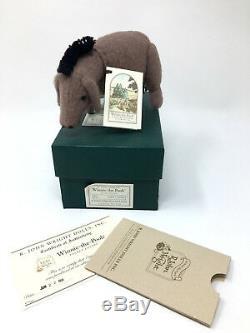 R. John Wright Pocket Eyore Disney Winnie L'ourson En Peluche 3,5 Mohair Nouveau Nrfb