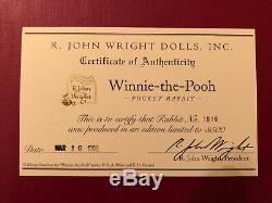 R John Wright Pocket Lapin Basé Sur Disney Winnie L'ourson Nouveau