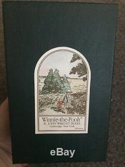 R. John Wright Pocket Pooh Mib Withcoa Nr Édition Limitée Poupée Winnie L'ourson
