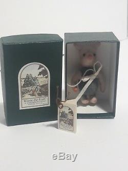 R John Wright Porcelet Poche Livret Withautographed Winnie L'ourson 3 Mini Doll