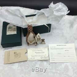 R. John Wright Poupée Kanga & Roo De Poche Winnie L'ourson Coa Original Box