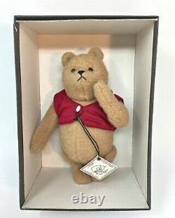 R. John Wright Vintage 8 Winnie The Pooh Mohair Peluche En Boîte Avec Étiquette De Suspension