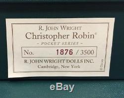 R John Wright Winnie L'ourson Série De Poche Et Toile De Fond, 8 Pc. Set, Édition Limitée