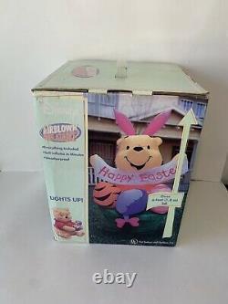 Rare Disney Easter Winnie L'ourson 6ft Gemmy Airblown Gonflable 2003! Scellé