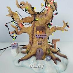Rare Disney Porcinet Tree House Light Up Statue De Noël (winnie L'ourson)