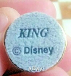 Rare Disney Winnie L'ourson En Étain Jeu D'échecs Avec Le Conseil De Marbre